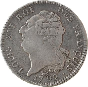 IIIe République, écu de 6 livres FRANÇOIS transformé en médaille de mariage, An 4, 2d semestre, 1792/1890 Paris