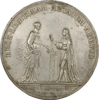 Louis XIV, majorité du Roi, cliché uniface par Molart, 1651, frappe ancienne