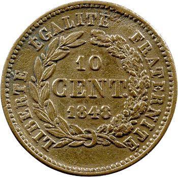 IIe République, essai de 10 centimes par Pingret, 1848 Paris