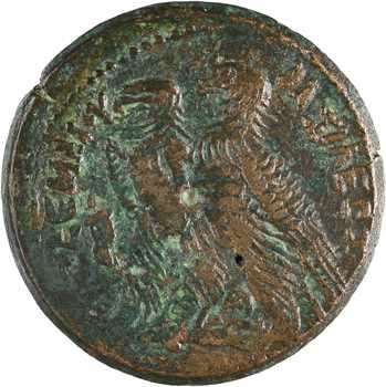 Egypte, Ptolémée VI, moyen bronze, Alexandrie, c.170-145 av. J.-C