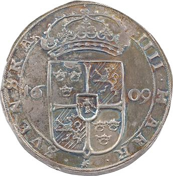 Suède (royaume de), Charles IX, IIII mark, 1609 Stockholm