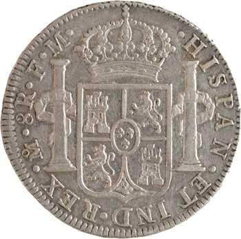 Mexique, Charles IV, 8 réaux, 1791 Mexico