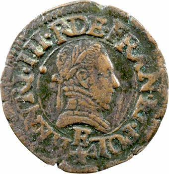 Henri III, denier tournois, 1580 Tours