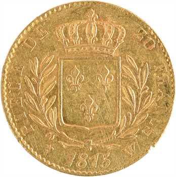 Louis XVIII, 20 francs buste habillé, 1815 Lille