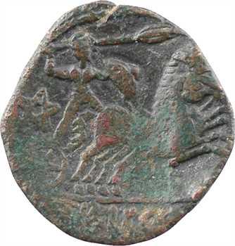 Turons, bronze TVRONOS TRICCOS au bige, c.80-50 av. J.-C.