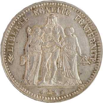 IIIe République, 5 francs Hercule, 1878 Bordeaux