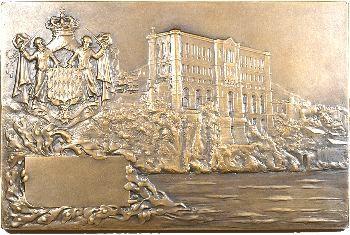 Monaco, plaque du congrès de 1920, par G.-H. Prud'homme, 1920 Paris