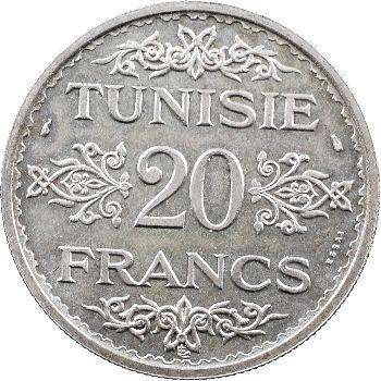Tunisie (Protectorat français), Ahmed, essai de 20 francs, AH 1353 (1934) Paris