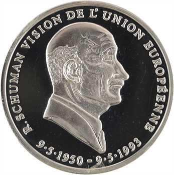 Grèce, République hellénique, module argent, Karamanlis et Schuman, 1993
