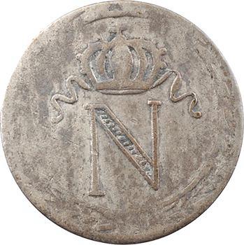 Premier Empire, 10 centimes à l'N couronnée, 1808 ou 1809 La Rochelle, faux d'époque