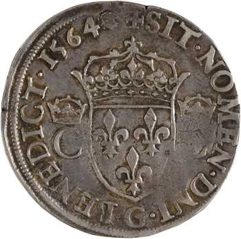 Charles IX, teston 2e type, 1564 Poitiers