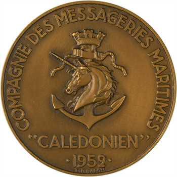 IVe République, Compagnie des Messageries Maritimes, Le Calédonien, par Baron, 1952 Paris