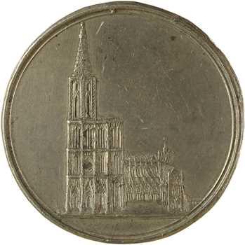 Premier Empire, construction de la cathédrale de Strasbourg, s.d