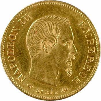 Second Empire, 10 francs tête nue, grand module, 1855 Paris
