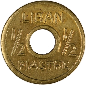 Liban, 1/2 piastre 1re émission, s.d. (1940-1941) Alep