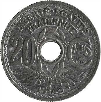 Gvt provisoire, essai de 20 centimes Lindauer, 1945 Paris