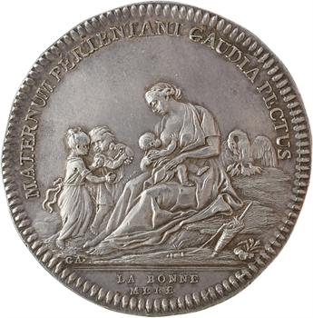 Premier Empire, prix de la bonne mère, transformée en médaille de mariage, par Gatteaux, 1810 Paris