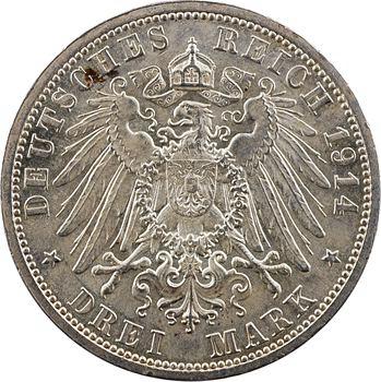 Allemagne, Prusse (royaume de), Guillaume II, 3 mark, 1914 Berlin