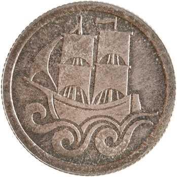 Allemagne, Dantzig (ville libre de), 1/2 florin (1/2 gulden), 1923 Berlin PROOFLIKE