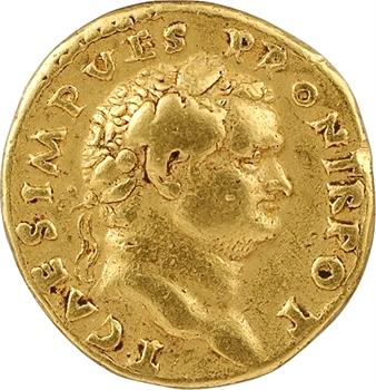 Titus César, aureus, Rome, 71-72