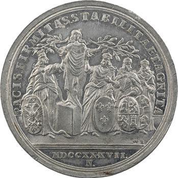 Autriche, Charles VI, Paix avec la France, l'Espagne et la Sardaigne, par Vestner, 1737 Nuremberg