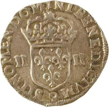 Henri IV, quart d'écu, croix feuillue de face, 1603 Rennes