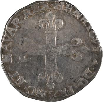 Henri IV, quart d'écu de Navarre, 1604 [16o4] Saint-Palais