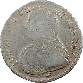 Louis XV, demi-écu aux rameaux d'olivier, 1730 Bourges