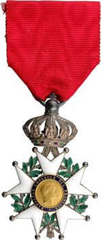France, Second Empire, Légion d'Honneur en or et argent