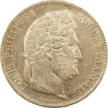 Louis-Philippe Ier, 5 francs IIe type Domard, 1832 Lille