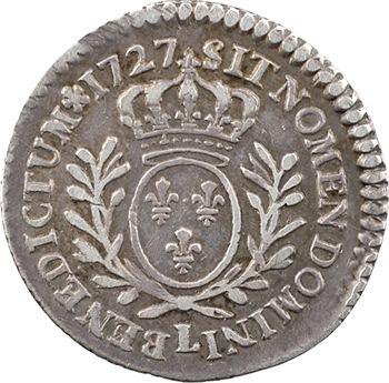 Louis XV, vingtième d'écu aux rameaux d'olivier, 1727 Bayonne