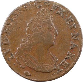 Monnayage de Strasbourg, Louis XIV, pièce de 4 deniers, 1704/3/2 Strasbourg