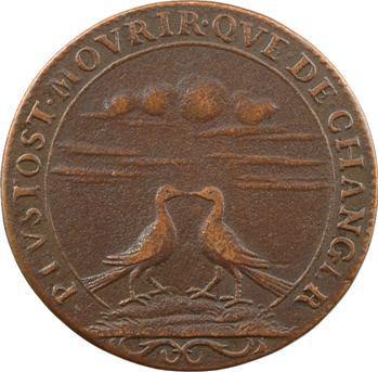Louis XIV (2e moitié XVIIe s.), jeton de mariage aux deux colombes