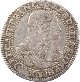 Italie, Castiglione delle Stiviere, Ferdinand II de Gonzague, 25 soldi à l'écu biparti, 1682