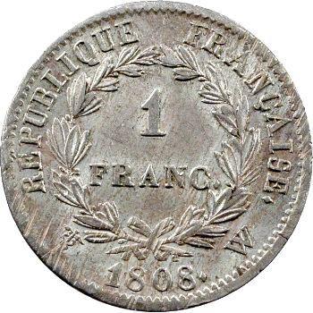 Premier Empire, 1 franc République, 1808 Lille