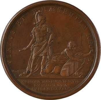 Louis XV, la prise de Menin, par Marteau, 1744 Paris