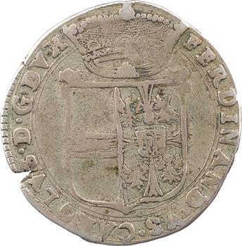 Italie, Mantoue, Charles III Ferdinand de Gonzague, demi-écu à la croix trilobée, 1675