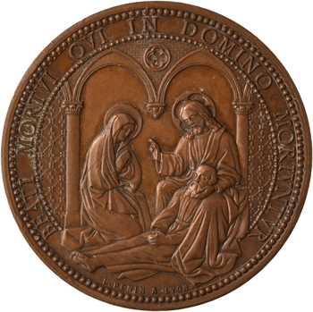 Second Empire, la mort du graveur Ludovic Pénin, 1868 Lyon