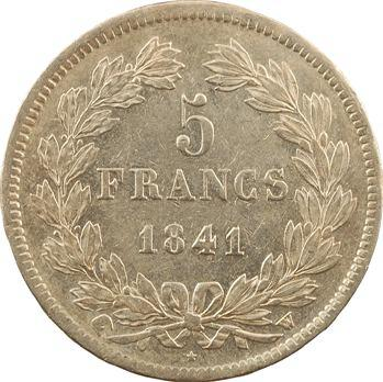 Louis-Philippe Ier, 5 francs IIe type Domard, 1841 Lille