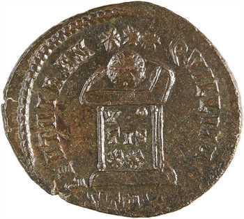 Constantin II, nummus, Trèves, 2e officine, 323
