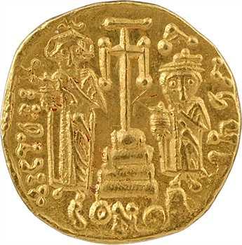 Constant II et Constantin IV, Héraclius et Tibère, solidus, Constantinople, 8e ? officine, 659-668