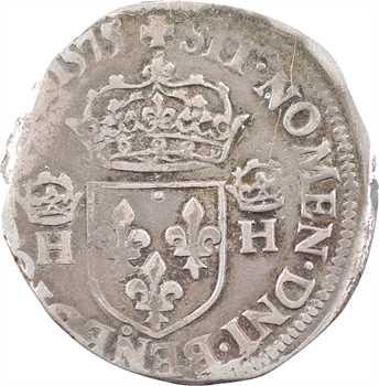 Henri III, teston 4e type, 1575 Troyes