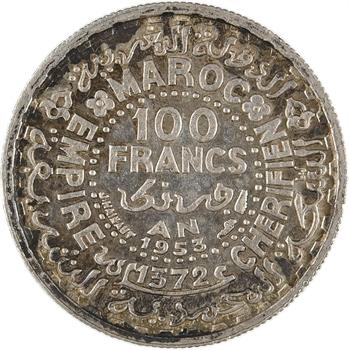 Maroc, Mohammed V, 100 francs, AH 1372 (1953) Paris