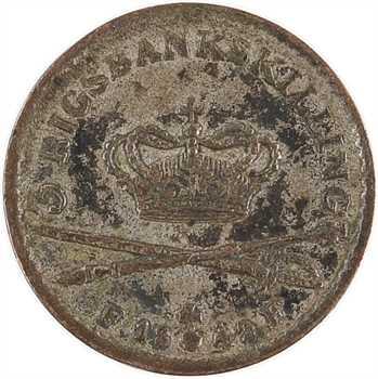 Danemark, Christian VIII, 3 rigsbankskilling, 1842