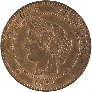 IIIe République, 10 centimes Cérès, 1874 Bordeaux