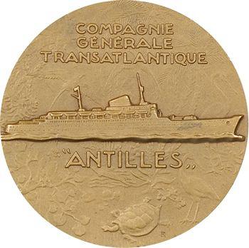 Bateau : Compagnie Générale Transatlantique (C.G.T.), le paquebot Antilles, par Delamarre, s.d. Paris
