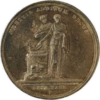 Allemagne, Hessen-Kassel, Guillaume Ier, Hanau, obtention de la dignité électorale, par Holtzemer, détournée en médaille de mariage, 1803 (1823)