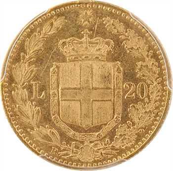 Italie (royaume d'), Humbert Ier, 20 lire, 1889 Rome, PCGS AU58