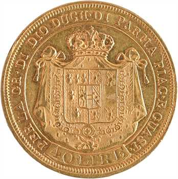 Italie, Parme (duché de), Marie-Louise, 40 lire, 1815 Milan
