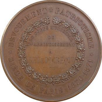 Siège de Paris, hommage du Corps Municipal du Xème, par Bovy, 1870-1871 Paris